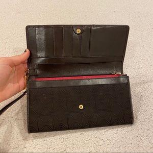 Escada brown wallet wristlet/clutch